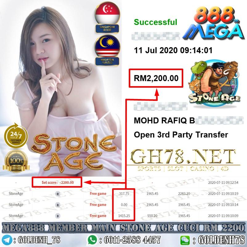 MEGA888 MEMBER MAIN STONEAGE CUCI RM2200