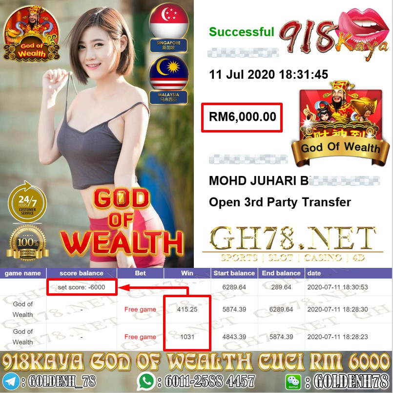 918KAYA GOD OF WEALT CUCI RM6000