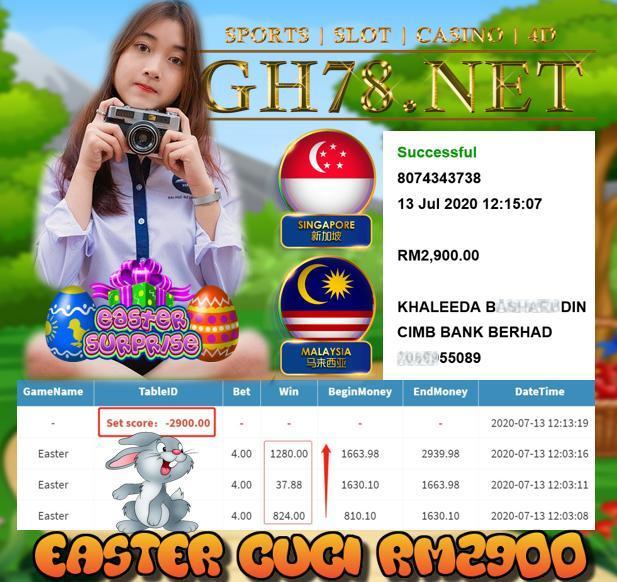 SERVER MEGA888 , EASTER MUNTAH BESAR ! CUCI RM2900