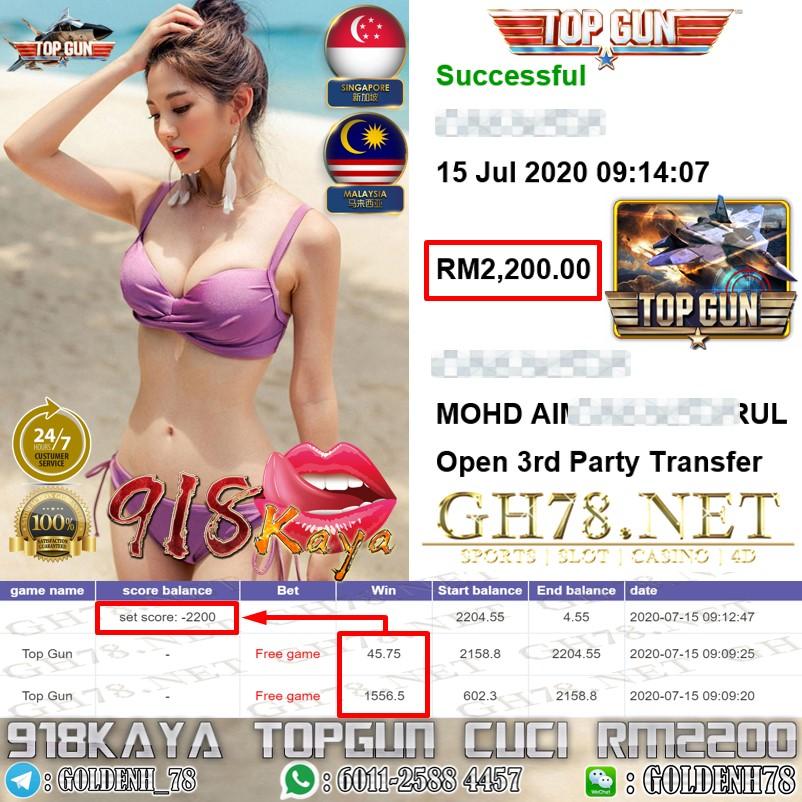 918KAYA MEMBER MAIN TOPGUN OUT RM2200