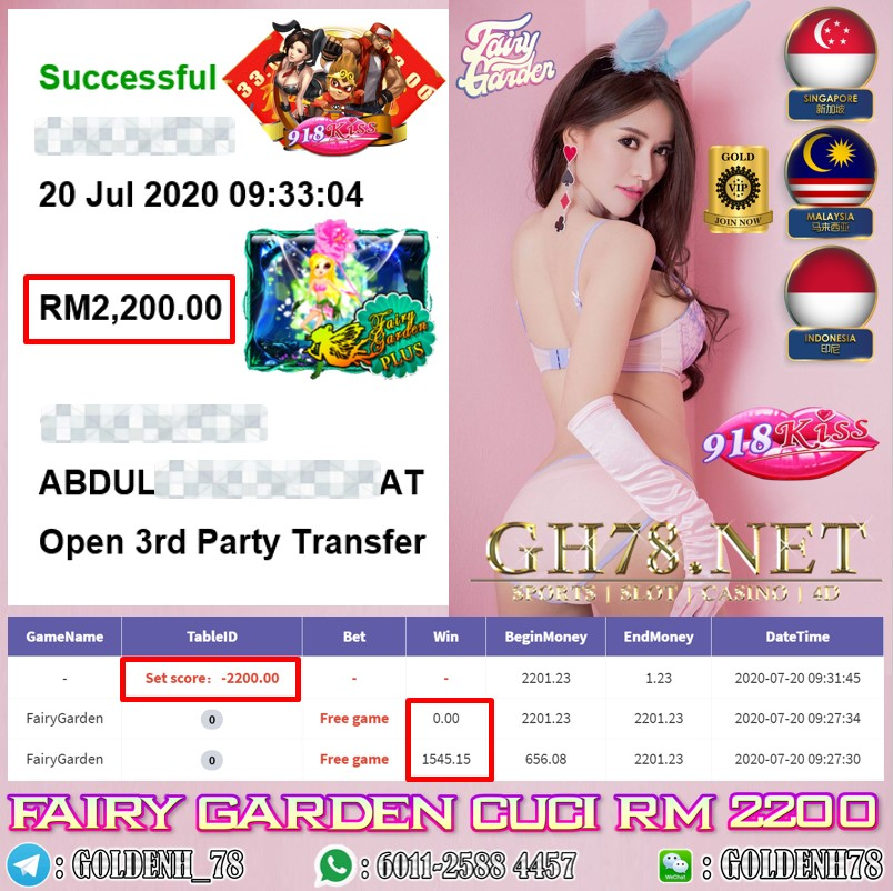 918KISS MEMBER MAIN FAIRY GARDEN CUCI  RM2200