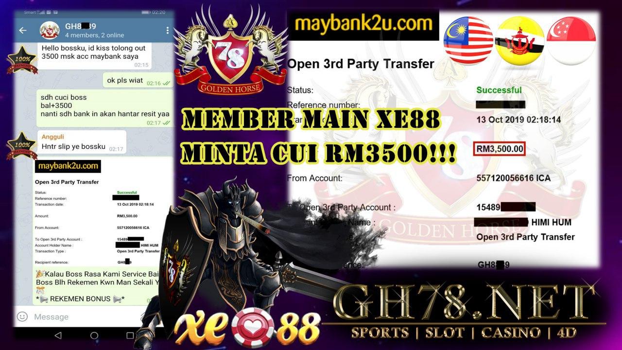 MEMBER MAIN XE88 MINTA CUCI RM3500!!!