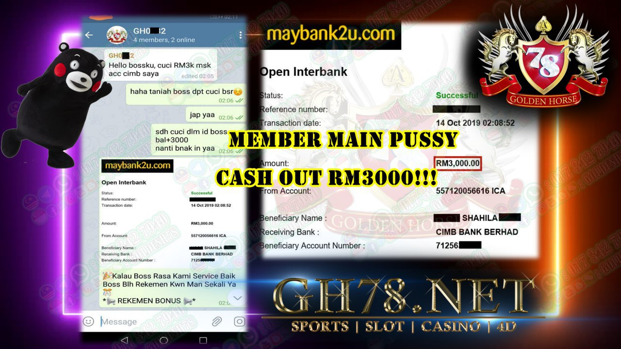 MEMBER MAIN PUSSY888 CASH OUT RM3000!!!