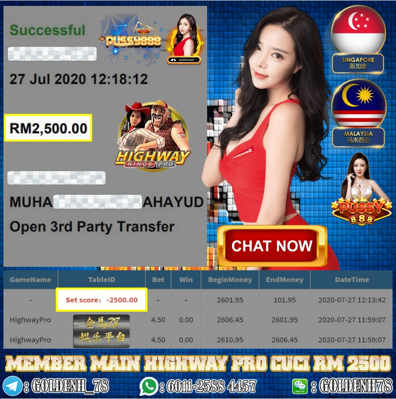 PUSSY888 MEMBER MAIN GAME HIGHWAY PRO CUCI RM2500