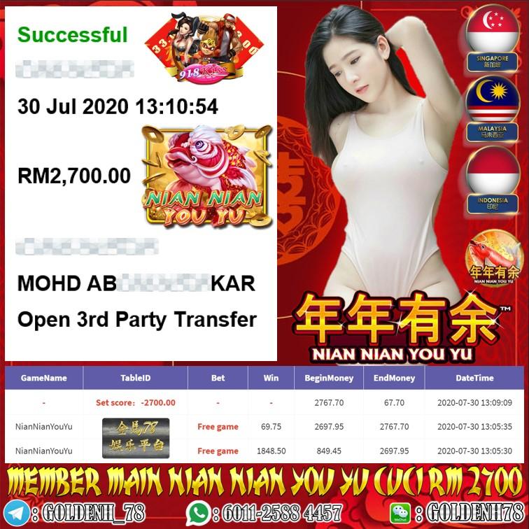 918KISS MEMBER MAIN NIAN NIAN YOU YU CUCI RM2700