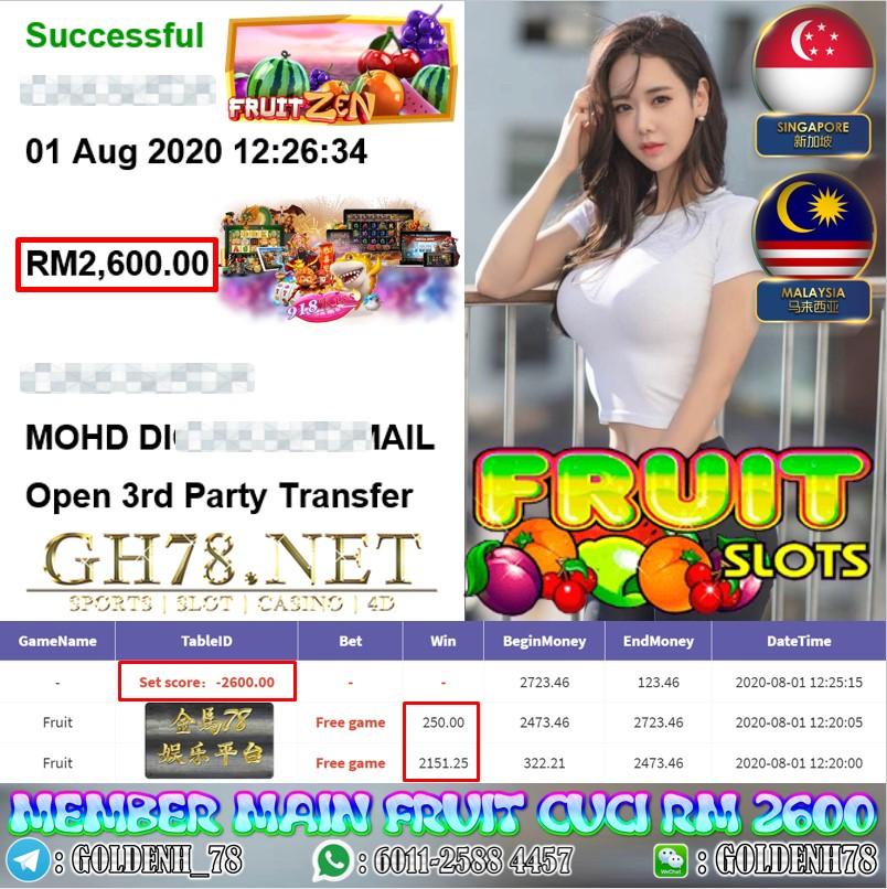 918KISS MEMBER MAIN FRUIT KENA FREE GAME CUCI RM 2600