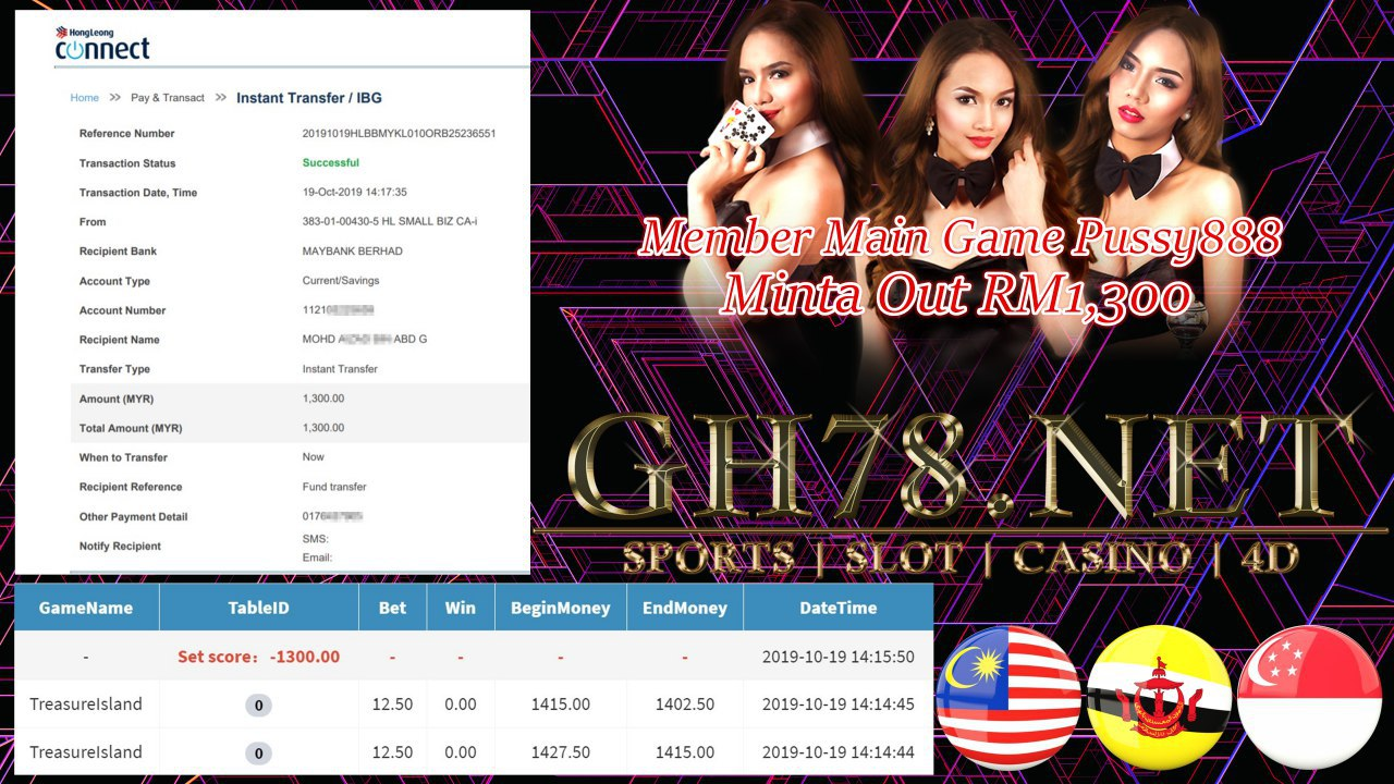 MEMBER MAIN PUSSY888 MINTA OUT RM1300!!!