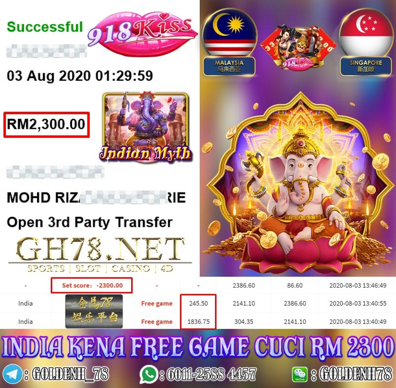 918KISS INDIA KENA FREE GAME CUCI RM2300
