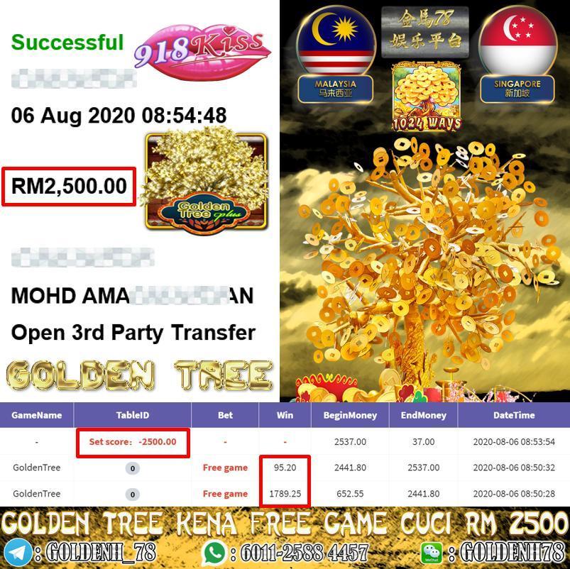 918KISS MEMBER MAIN GOLDEN TREE KENA FREE GAME CUCI RM2500
