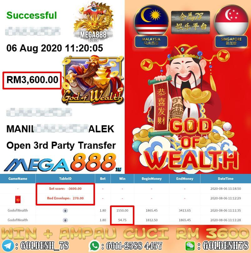 MEGA8888 GOD OF WEALTH CUCI RM3600