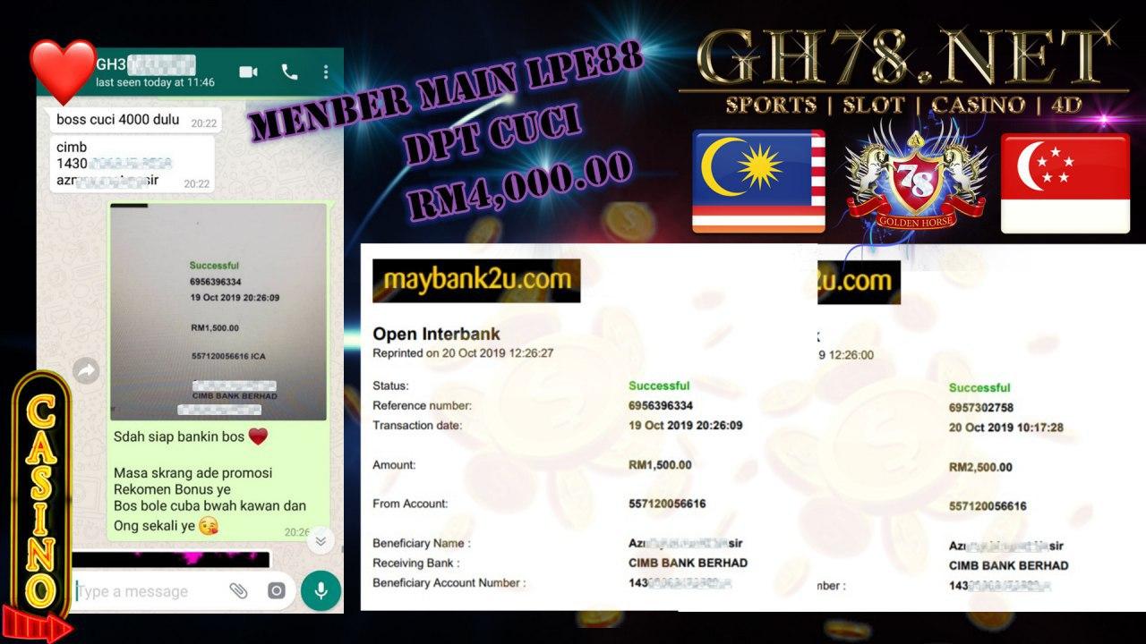 MEMBER MAIN LEOCITY MINTA CUCI RM4000!!!