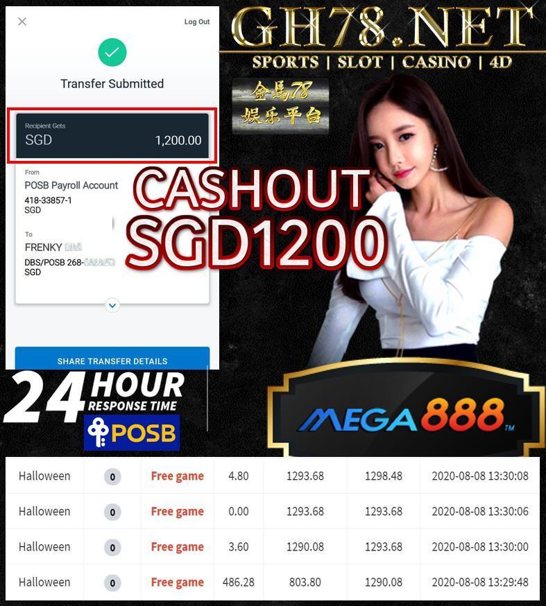 MEBER PLAY MEGA888 CASHOUT SGS1200