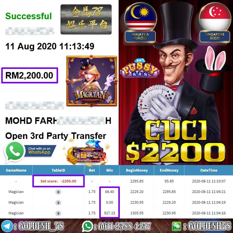 918KISS MEMBER MAIN MAGICIAN CUCI RM2200