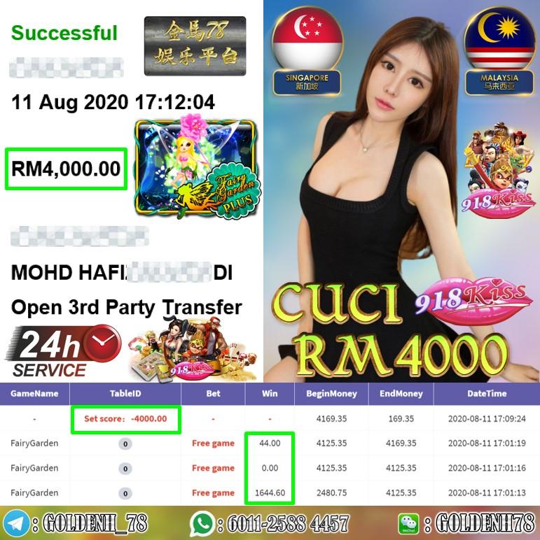 918KISS FT.FAIRY GARDEN KENA FREE GAME CUCI RM4000