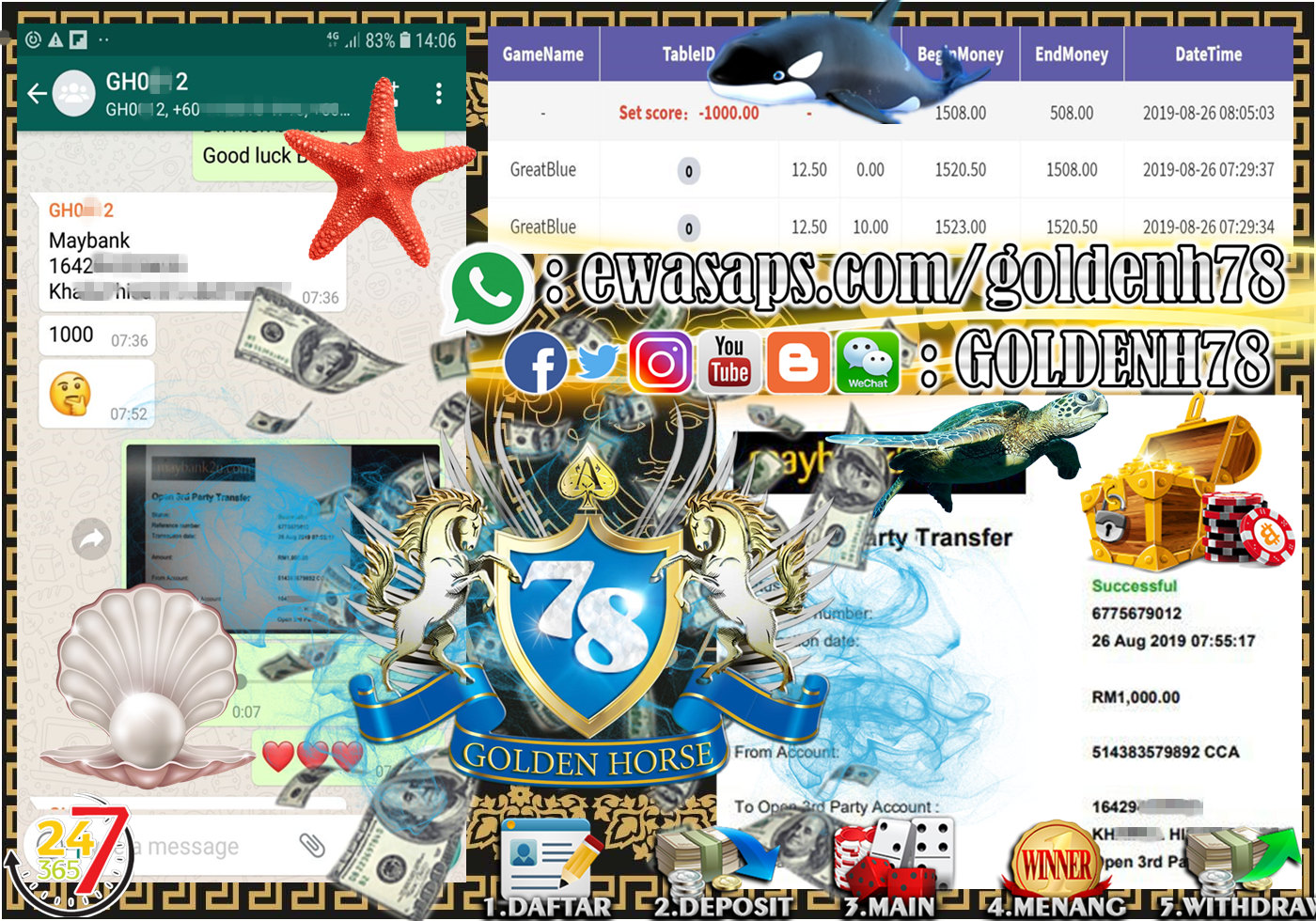 MEMBER MAIN GAME 918KISS FT.GREATBLUE MINTA OUT RM1,000