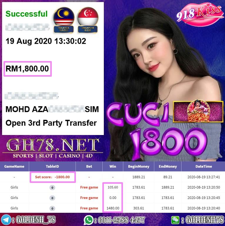 918KISS FT.GIRLS KENA FREE GAME CUCI RM1800