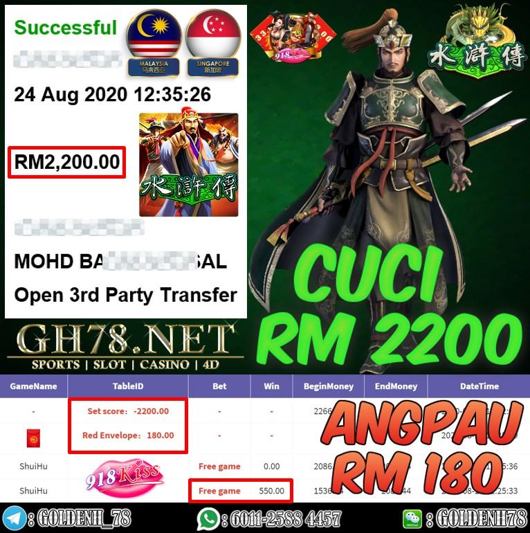 918KISS FT. SHUI HU ANGPAU RM180 CUCI RM2200