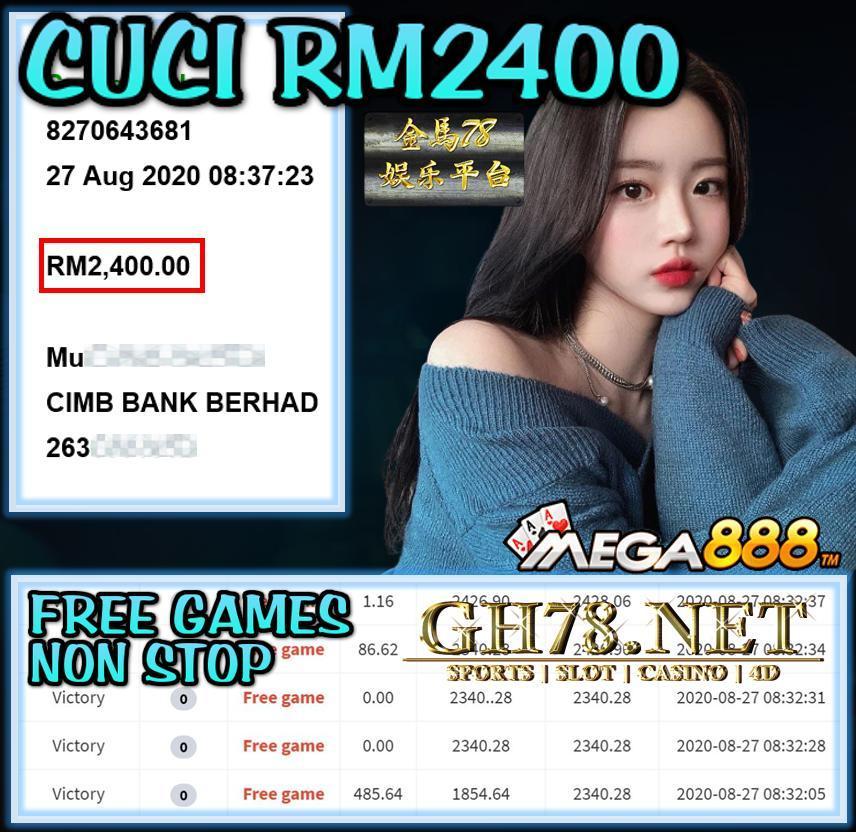 MEGA888 FT. VICTORY CUCI RM2400