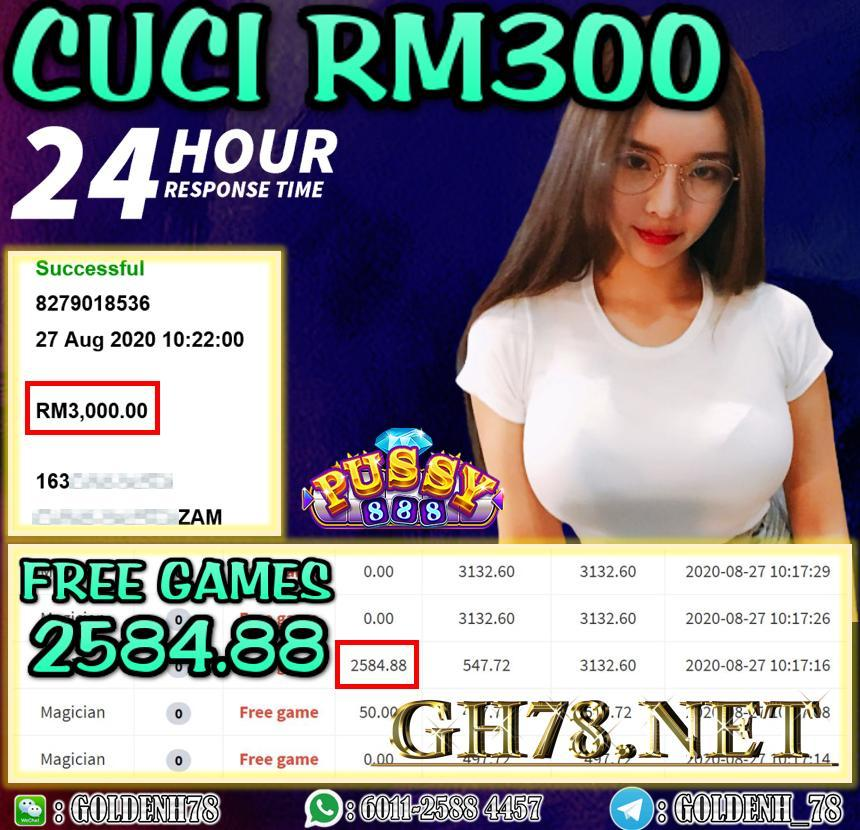 PUSSY888 FT. MAGICIAN CUCI RM3000