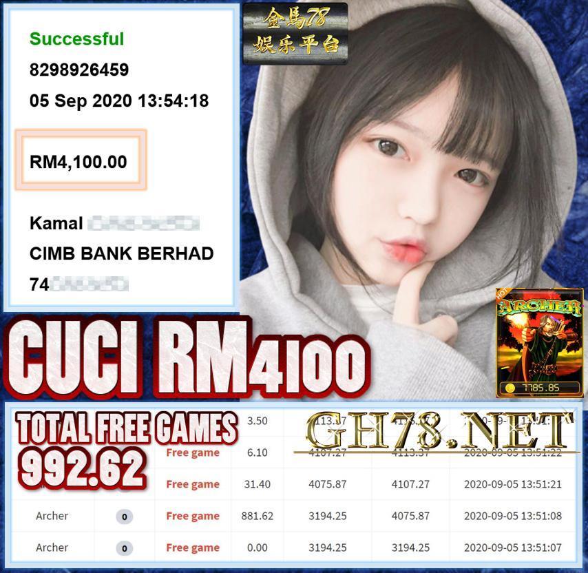 MEMBER MAIN ARCHER PUSSY888 CUCI RM4100