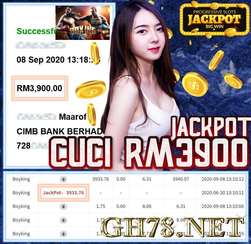 MEMBER MAIN DAPAT JACKPOT CUCI RM3900 !!!