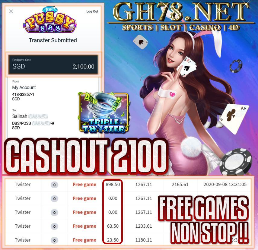MEMBER PLAY PUSSY888 CASHOUT SGD2100