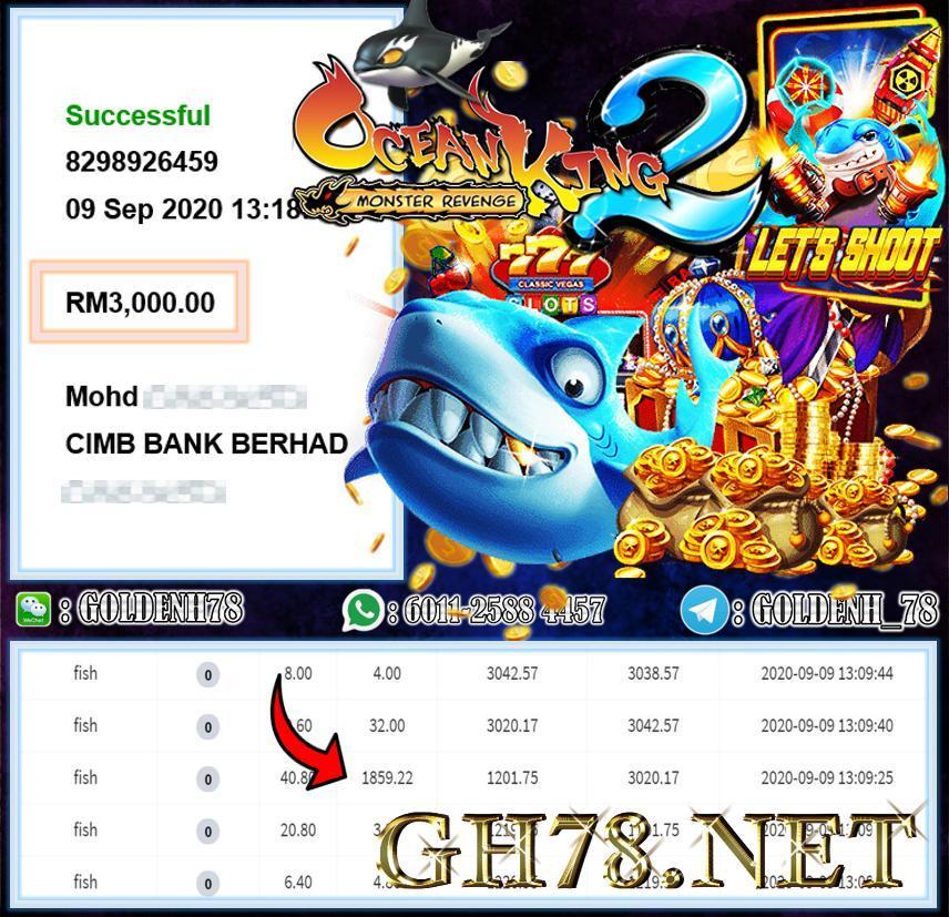 MEMBER MAIN 918KISS CUCI RM3000