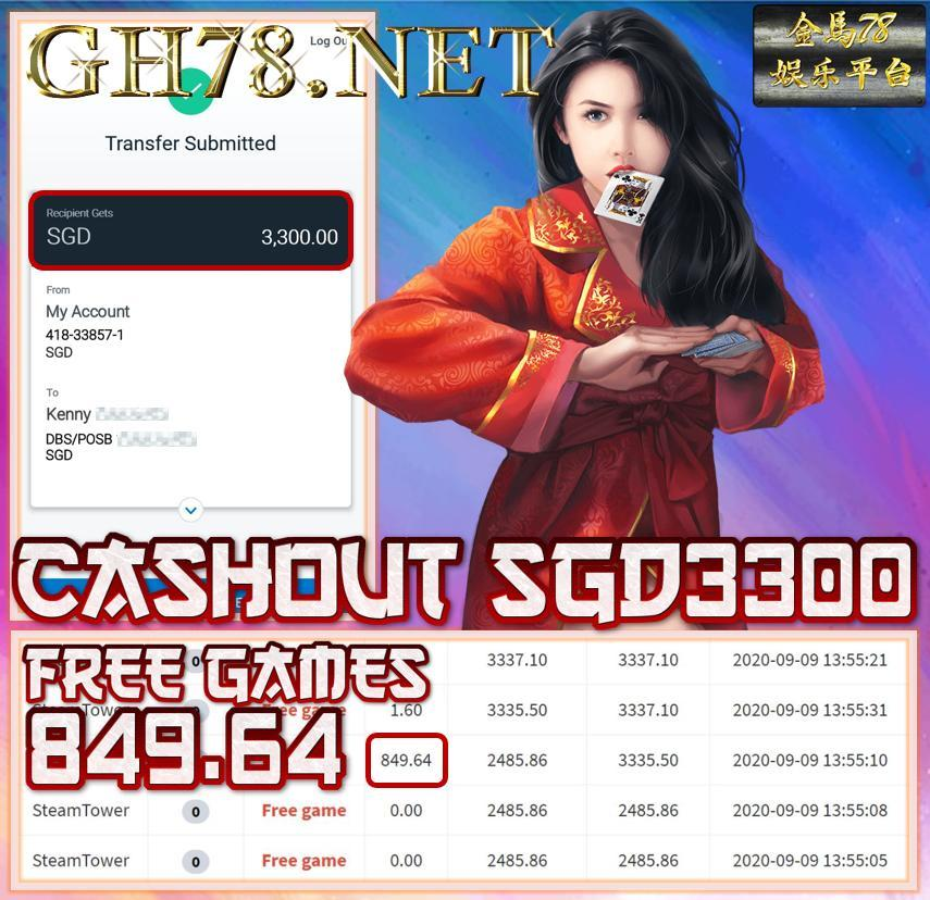MEMBER PLAY PUSSY888 CASHOUT SGD3300