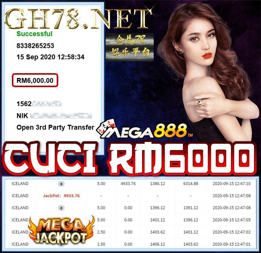 MEMBER DPT JACKPOT ICELAND CUCI RM6000 !!