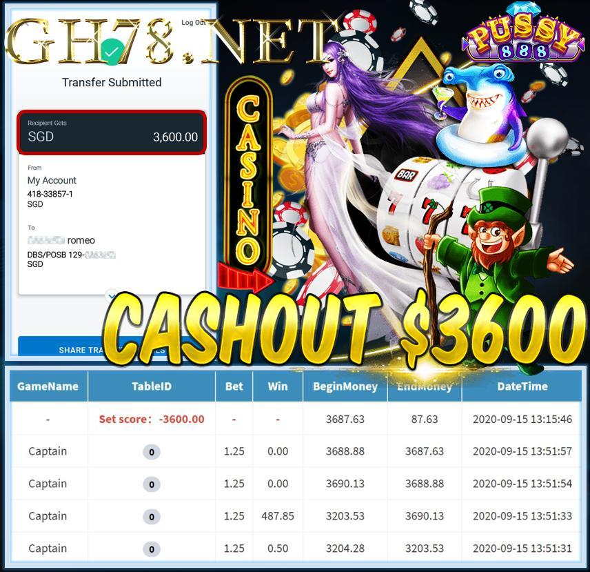 MEMBER PLAY PUSSY888 CASHOUT $3600