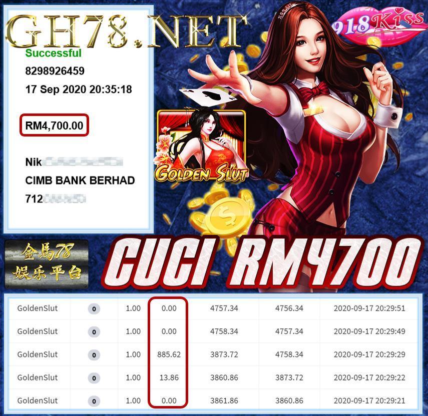 MEMBER MAIN 918KISS CUCI RM4700