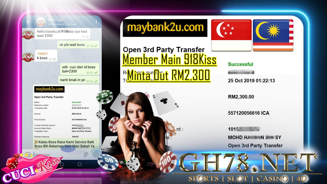 MEMBER MAIN 918KISS CUCI RM2300 !!