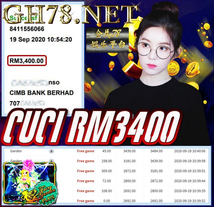 MEMBER MAIN MEGA888 CUCI RM3400