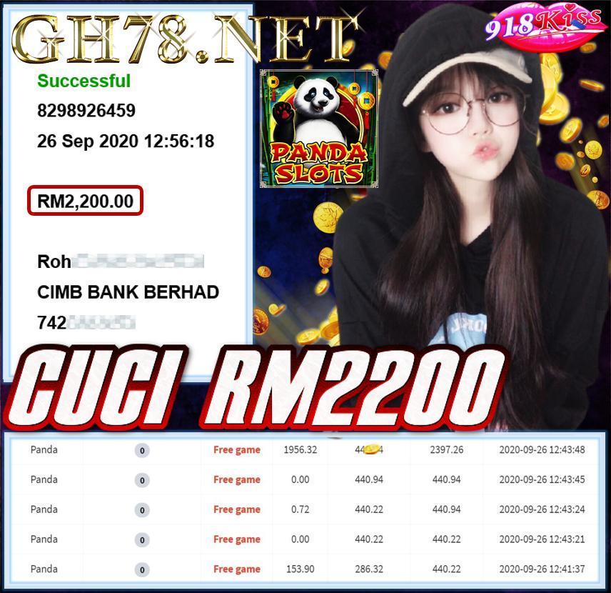 MEMBER MAIN 918KISS CUCI RM2200