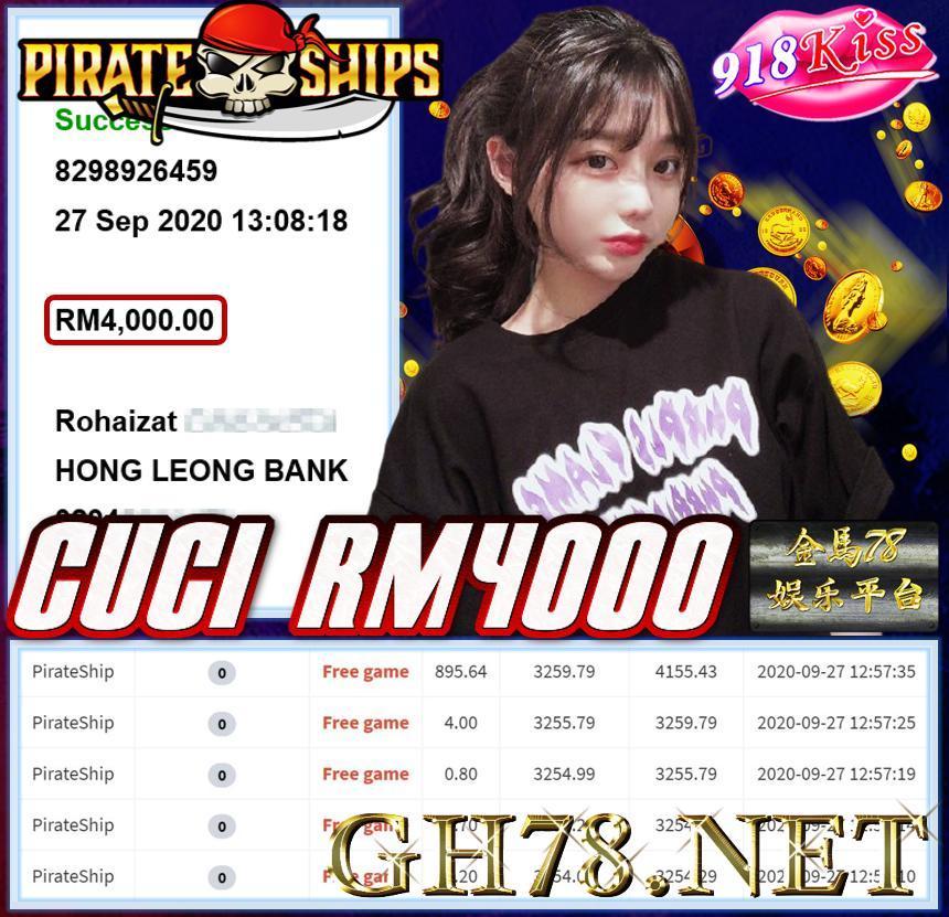MEMBER MAIN 918KISS CUCI RM4000