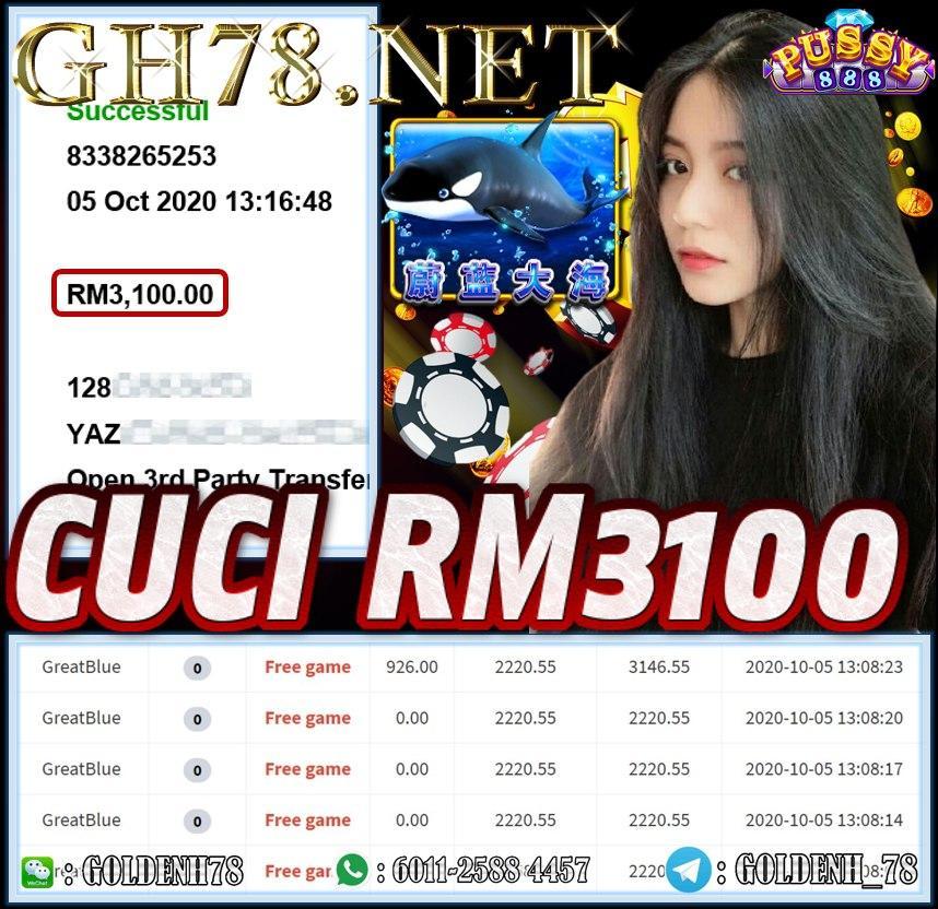 MEMBER MAIN PUSSY888 CUCI RM3100