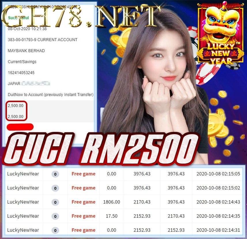 MEMBER MAIN MEGA888 CUCI RM2500