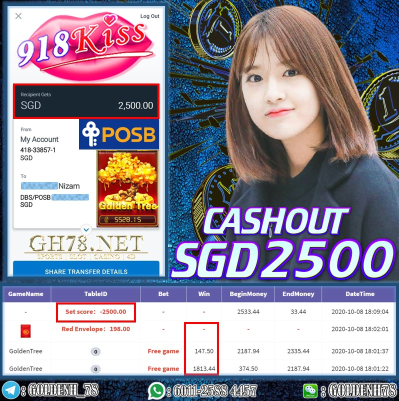MEMBER PLAY 918KISS CASHOUT $2500