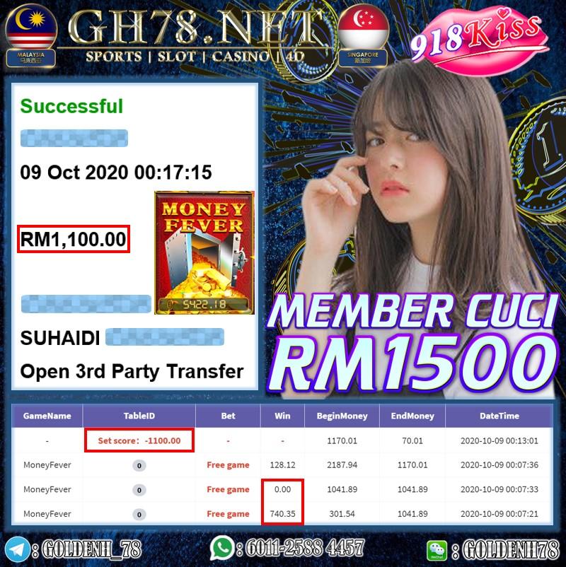 MEMBER MAIN 918KISS CUCI RM2100