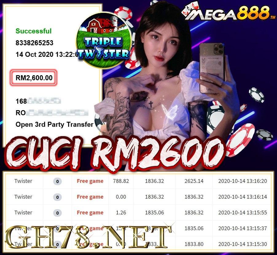 MEMBER MAIN MEGA888 CUCI RM2600