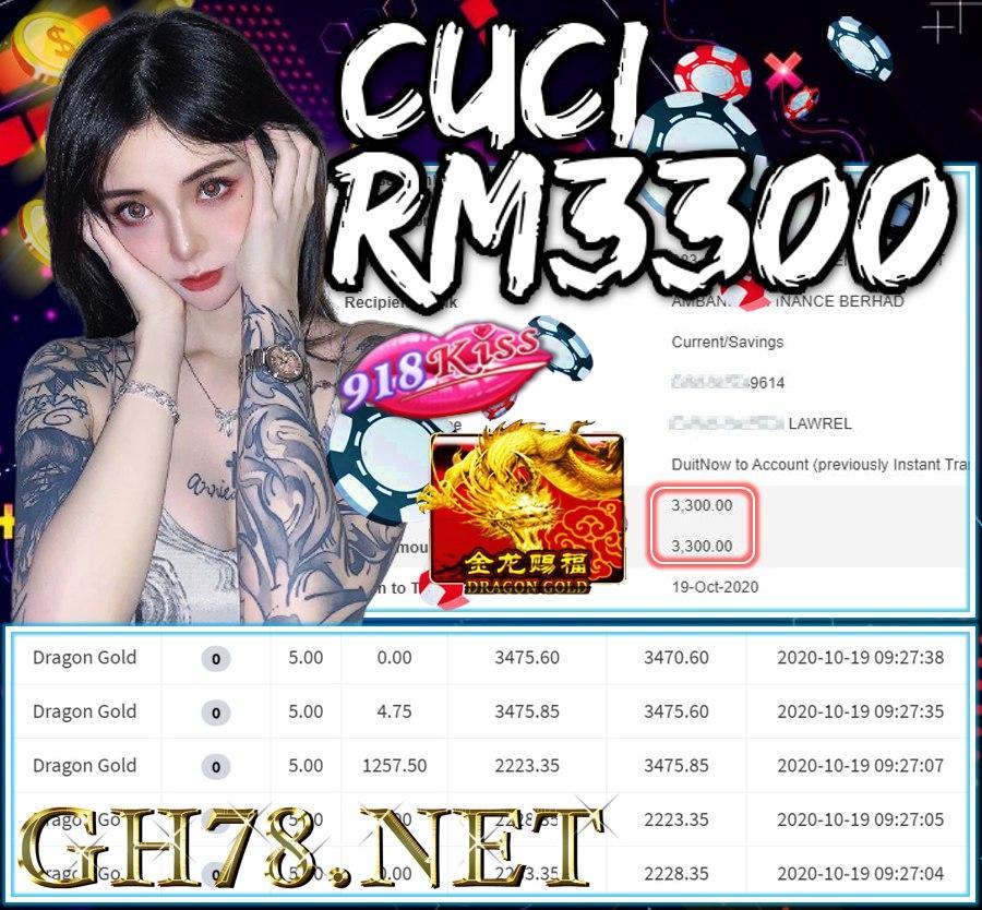 MEMBER  MAIN 918KISS CUCI RM3300