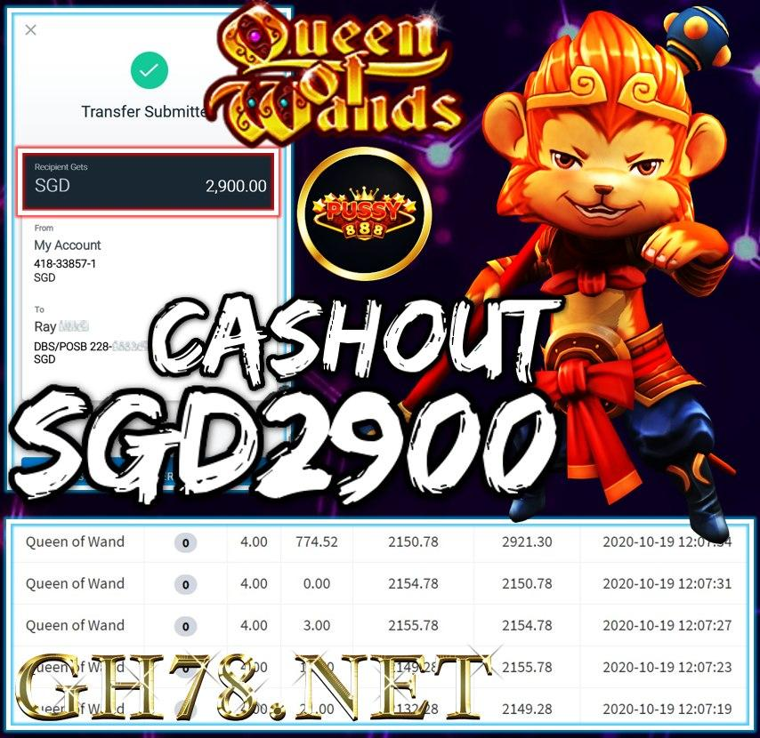 MEMBER PLAY PUSSY888 CASHOUT SGD2900