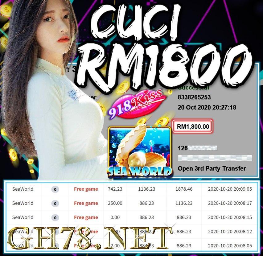 MEMBER MAIN 918KISS CUCI RM1800