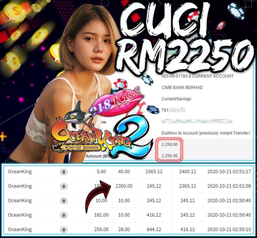 MEMBER MAIN 918KISS CUCI RM2250