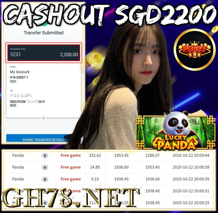 MEMBER PLAY PUSSY888 CASHOUT SGD2200