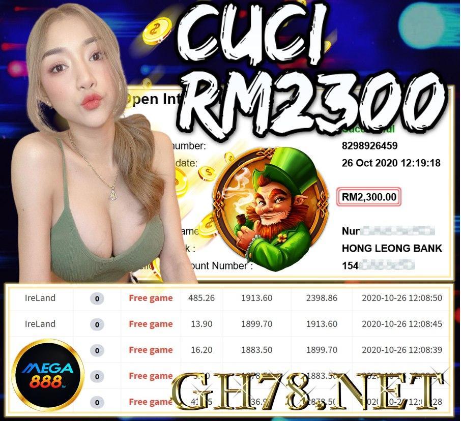 MEMBER MAIN MEGA888 CUCI RM2300