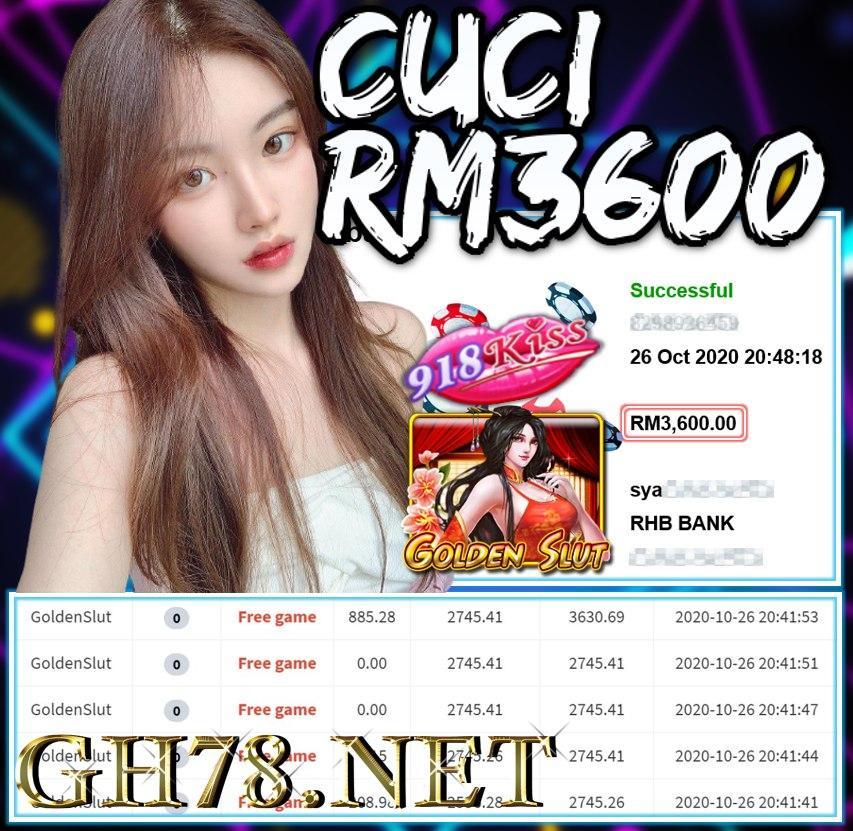 MEMBER MAIN 918KISS CUCI RM3600