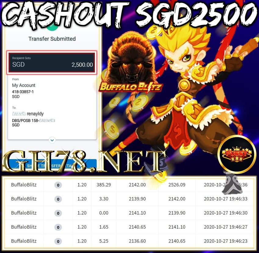 MEMBER PLAY CASHOUT SGD2500