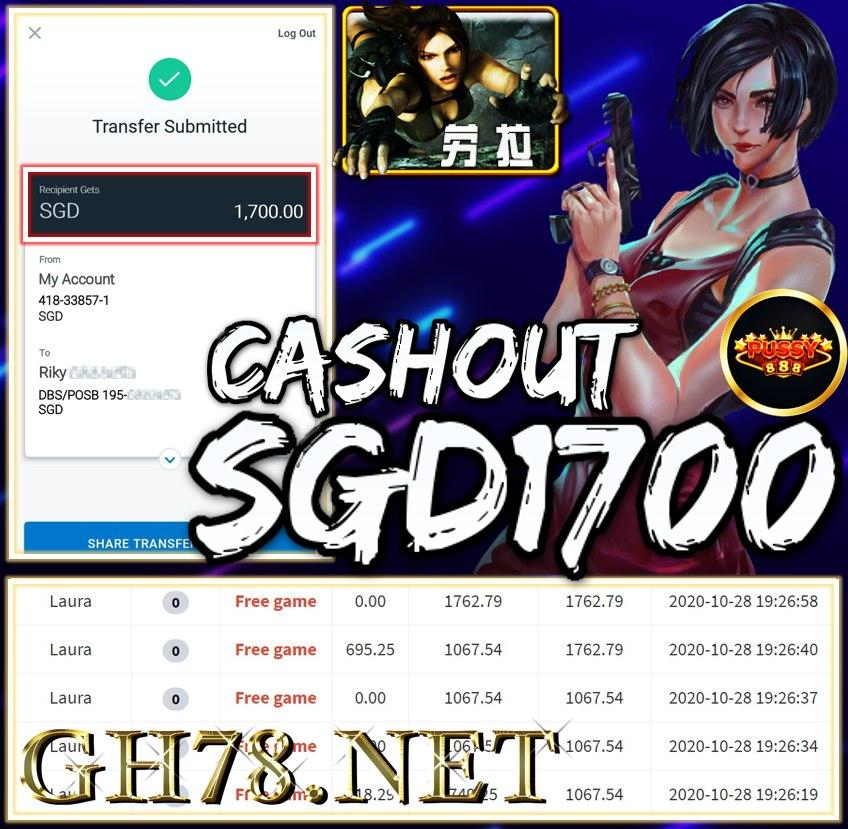 MEMBER PLAY PUSSY888 CASHOUT $1700