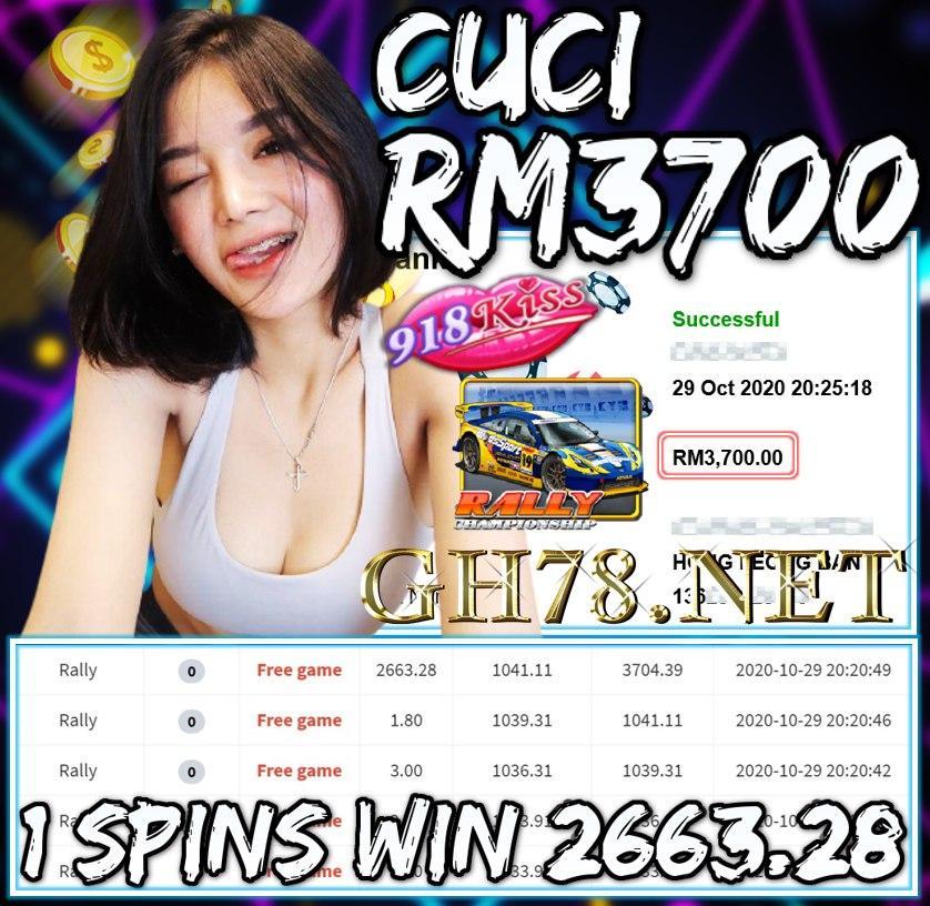 MEMBER MAIN 918KISS CUCI RM3700